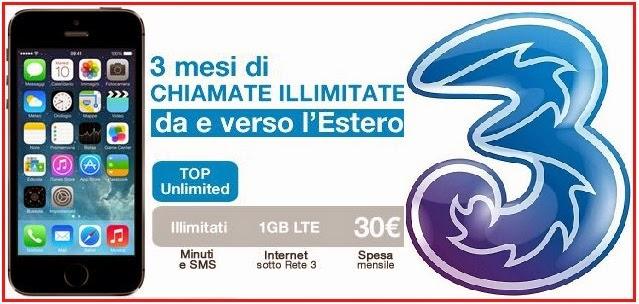 tre italia, promozione per iphone 5s