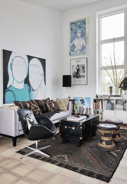 coffee in the sun: Eclectisch en kleurrijk interieur