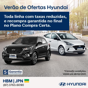 JPN, distribuidora Hyundai para Garanhuns e Região da linha HB20 e CRETA.