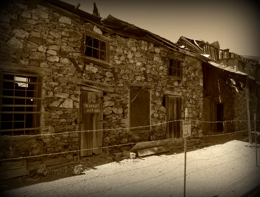 The remains of the Vulture City Assay office still stand to this day.