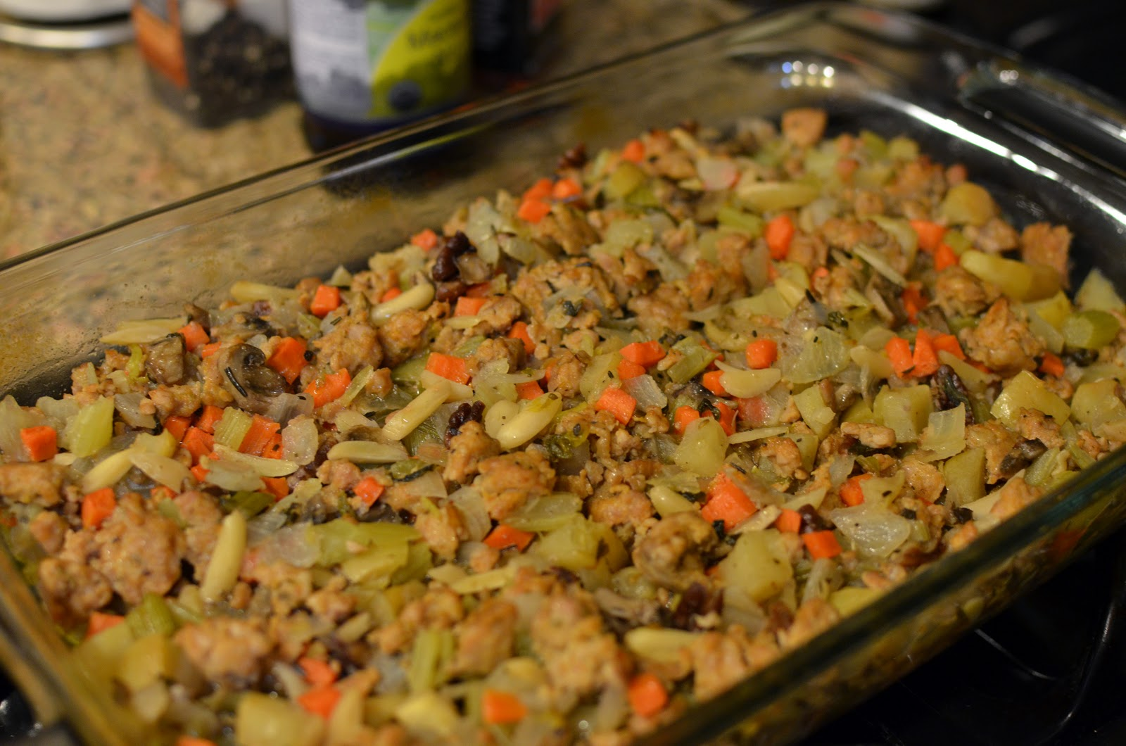Jes' CrossFit Blog: Thanksgiving Sausage Stuffing
