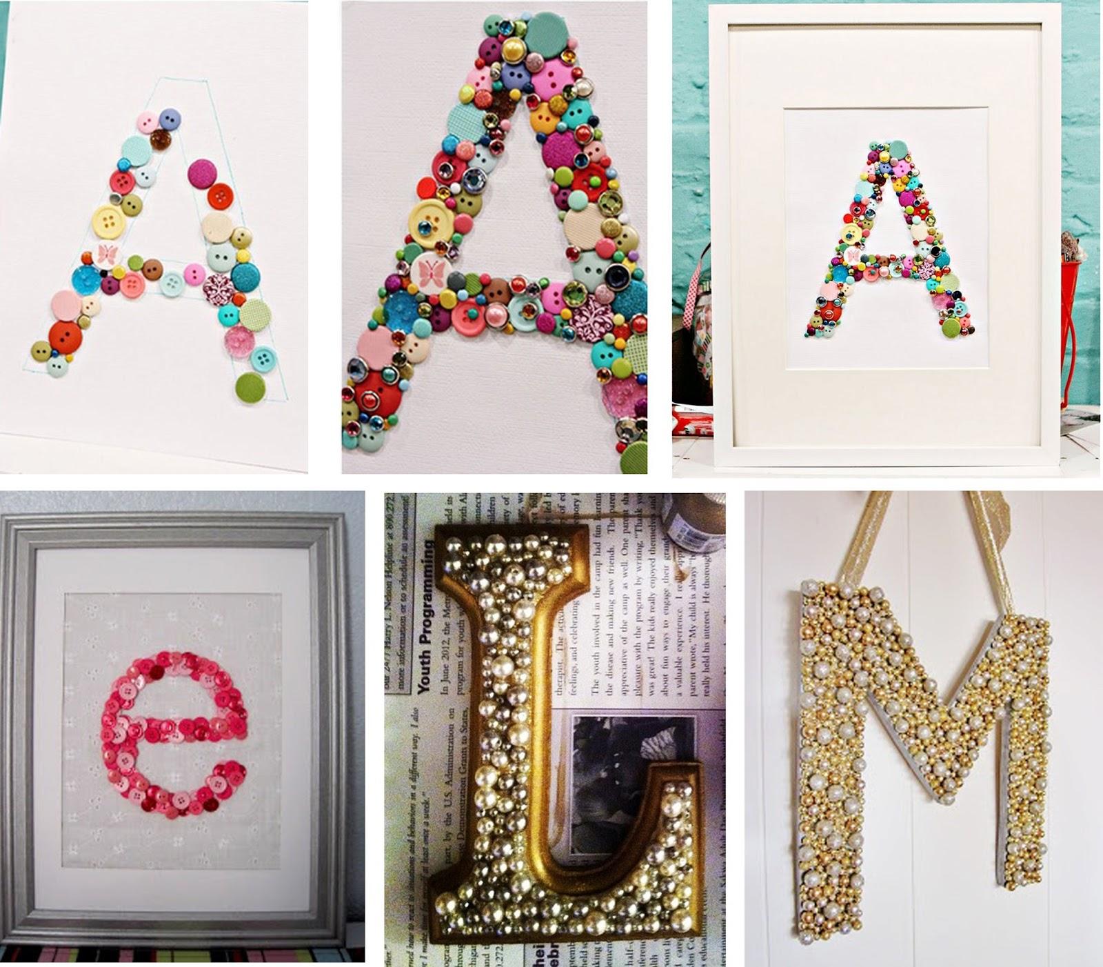 Decoracion letras home - Letras de nombres para decorar ...