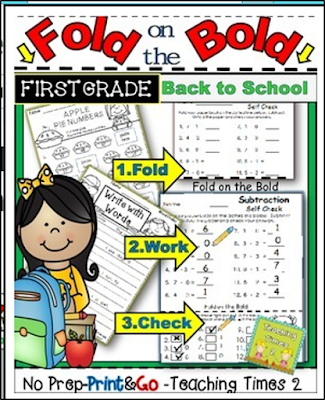 https://www.teacherspayteachers.com/Product/Back-to-School-FOLD-ON-THE-BOLD-1st-Grade-Self-Check-Math-and-Literacy-Packet-1725671