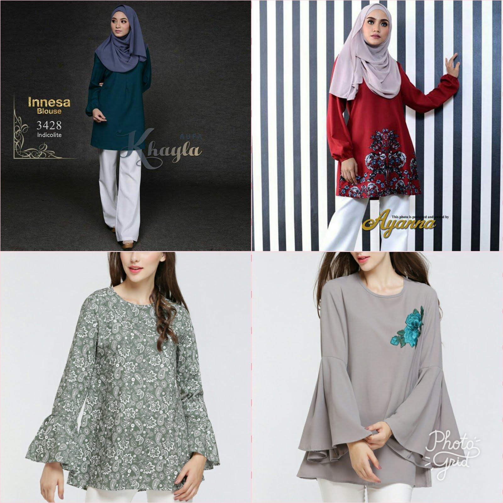 Pelbagai koleksi blouse labuh menawan. Plus size pun ada