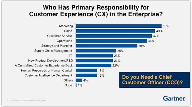Who has primary responsibility for #customer experience #CX in the company ?