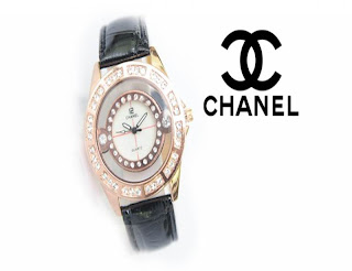 jam tangan keren CHANEL CH-18 BLACK GOLD