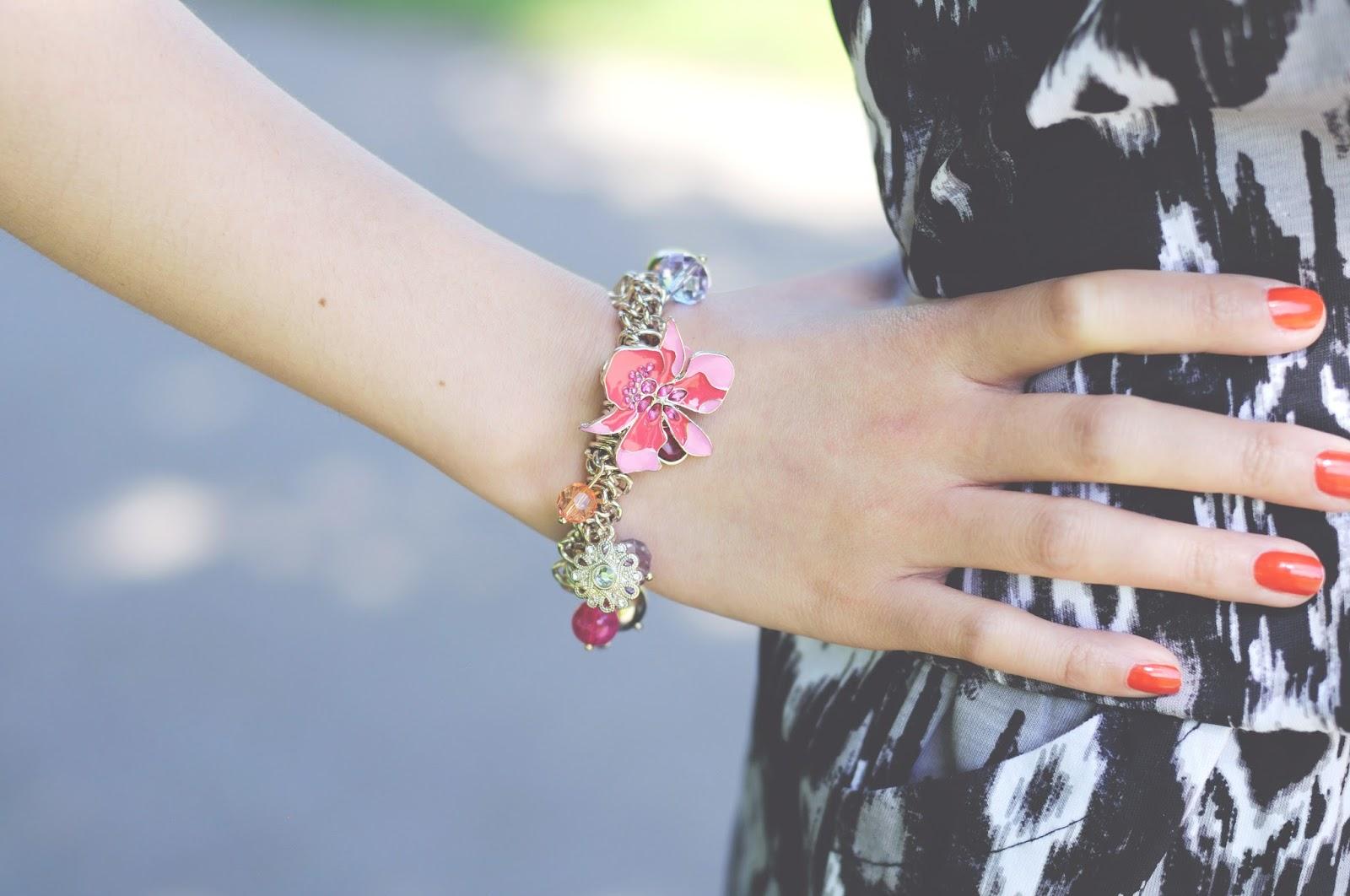 charm bracelet, lipsy bracelet