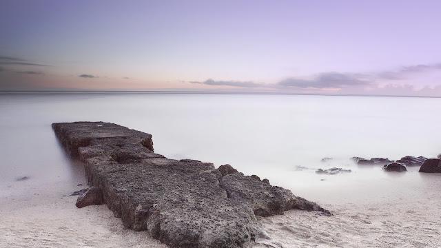 Beach Stones Landscape HD Wallpaper