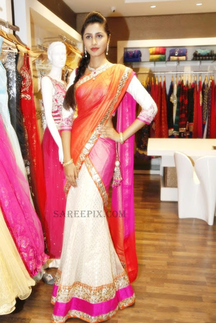 cute-model-bridal-half-saree-Neerus-wedding-collection