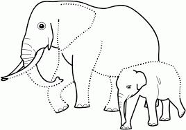 mewarnai gambar gajah untuk anak 2