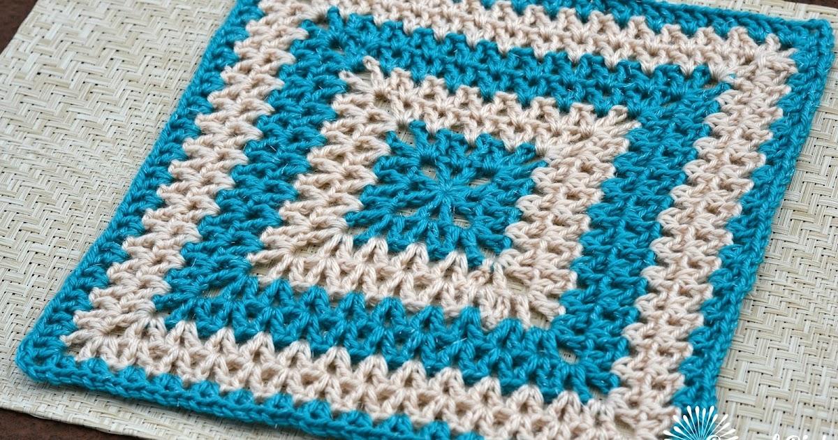 Crochet Pattern Design : Danyel Pink Designs: CROCHET PATTERN - Vibrant V-Stitch Square