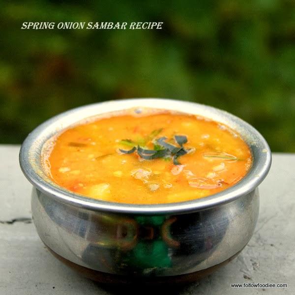 Spring Onions Sambar Recipe