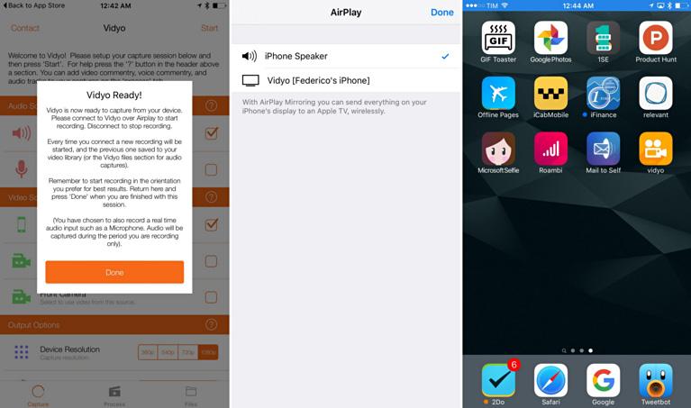 免越獄!錄下 iPhone 螢幕操作畫面影片 - Vidyo!