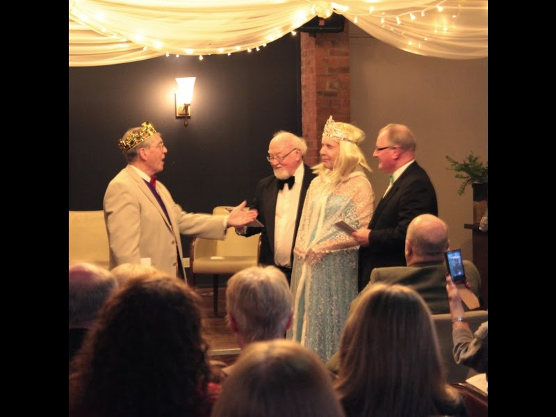 Prince Charming (Anthony Donlan). Courtier (Mike Simpson) Cinderella (Eric Bolton) Courtier (Shaun Aspden) & Catenian Province 10: December 2014