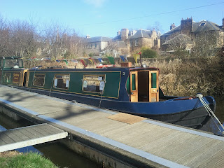 Boat moored at Union Canal