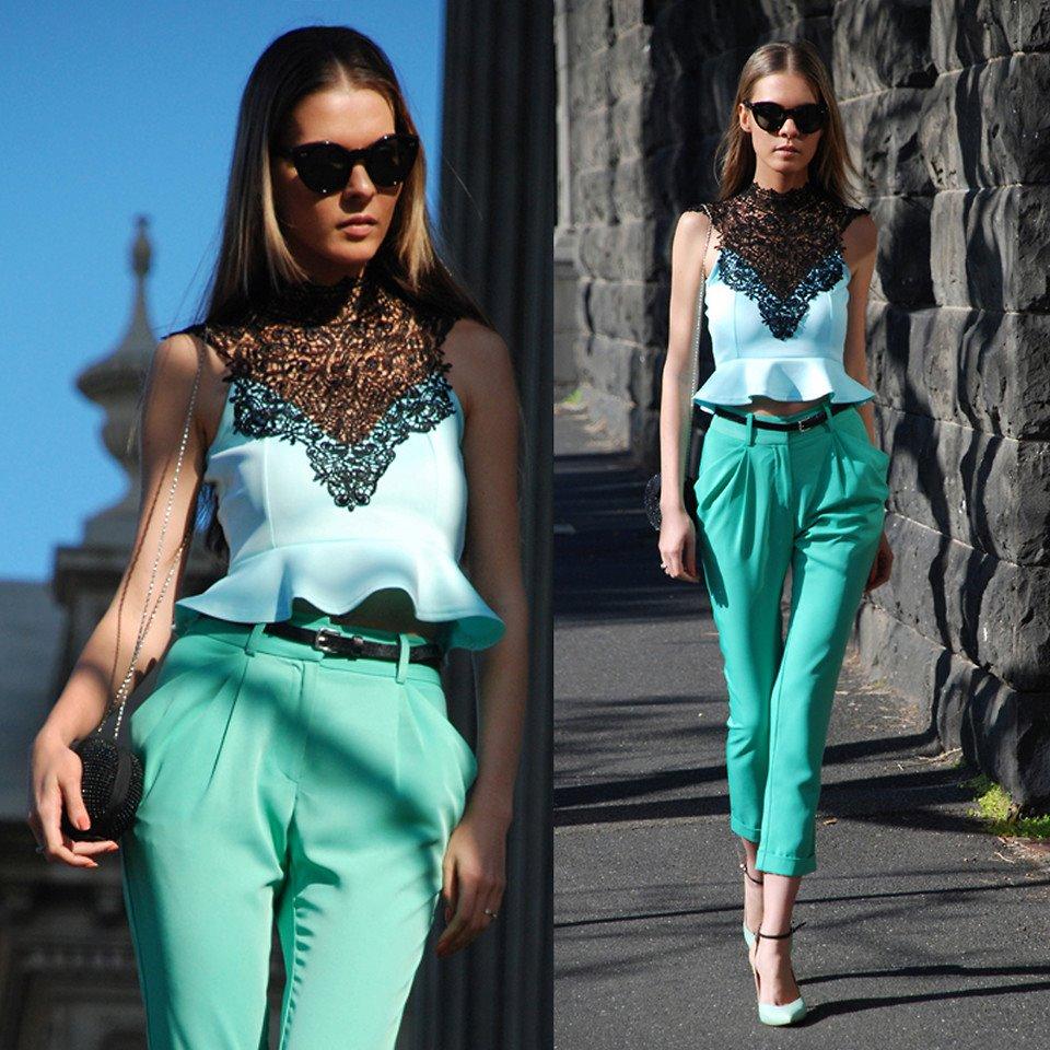 Yaz Modası 2017 Mint Yeşili kombinler