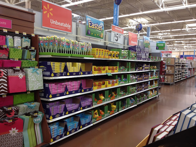 Easter aisle in Walmart