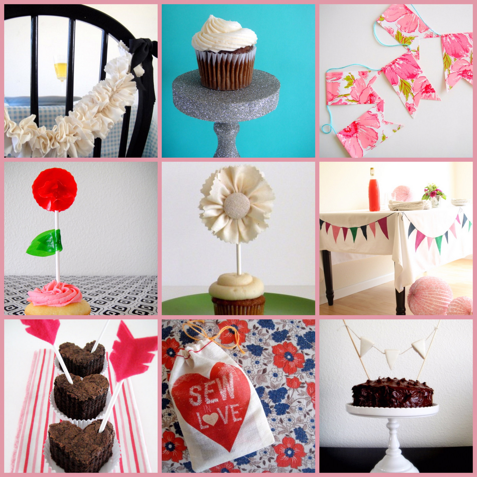 Diy Crepe Paper Flower Cupcake Toppers Pretty Parties Guest