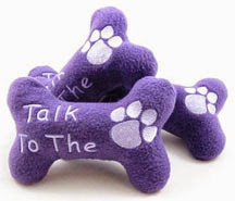 Talk to the Paw Dog Bone Squeak Toy Handmade by Canine Struts