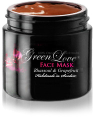 Green Love Face Mask with Rhassoul & Acai Berry