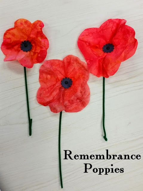 veteran's day crafts for kids, memorial day crafts for kids, poppy crafts for kids, coffee filter crafts for kids, flower crafts for kids, wizard of oz crafts for kids
