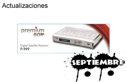 Actualización Premium Box  04 Septiembre 2013