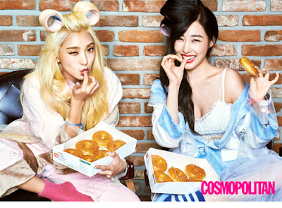 Bora SISTAR and Tiffany SNSD - Cosmopolitan Magazine September Issue 2015