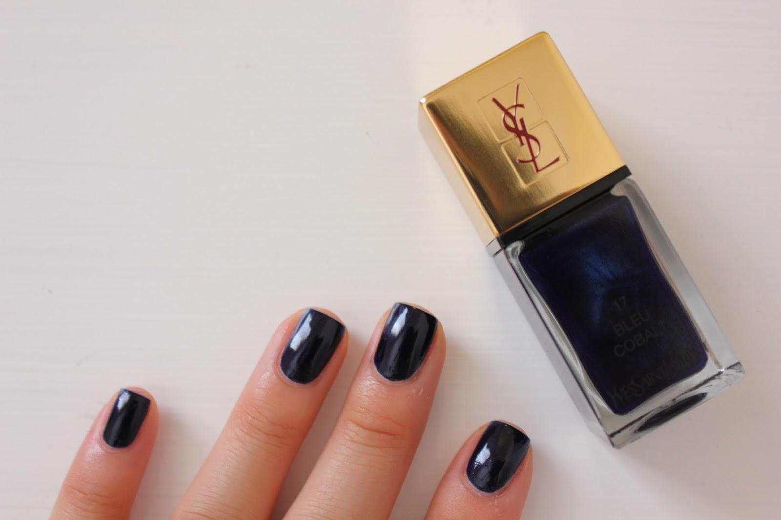 Review: YSL Bleu Cobalt Nail Lacquer