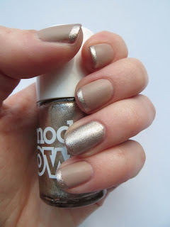 Nails inc Basil Street and Models Own Champagne French manicure