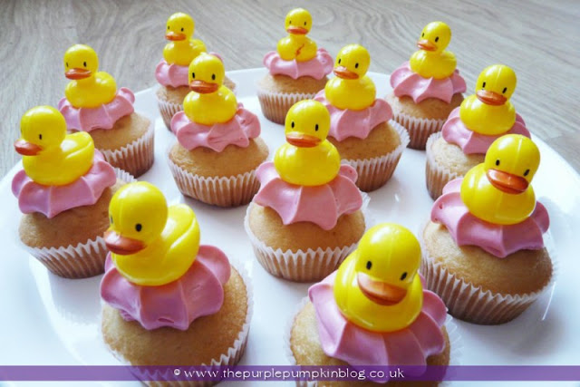 Dinky Ducky Cupcakes for a Baby Shower at The Purple Pumpkin Blog