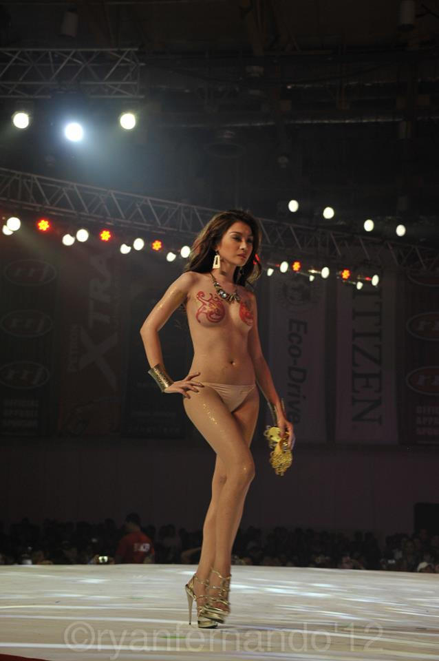naked bianca peralta at fhm victory party 2012