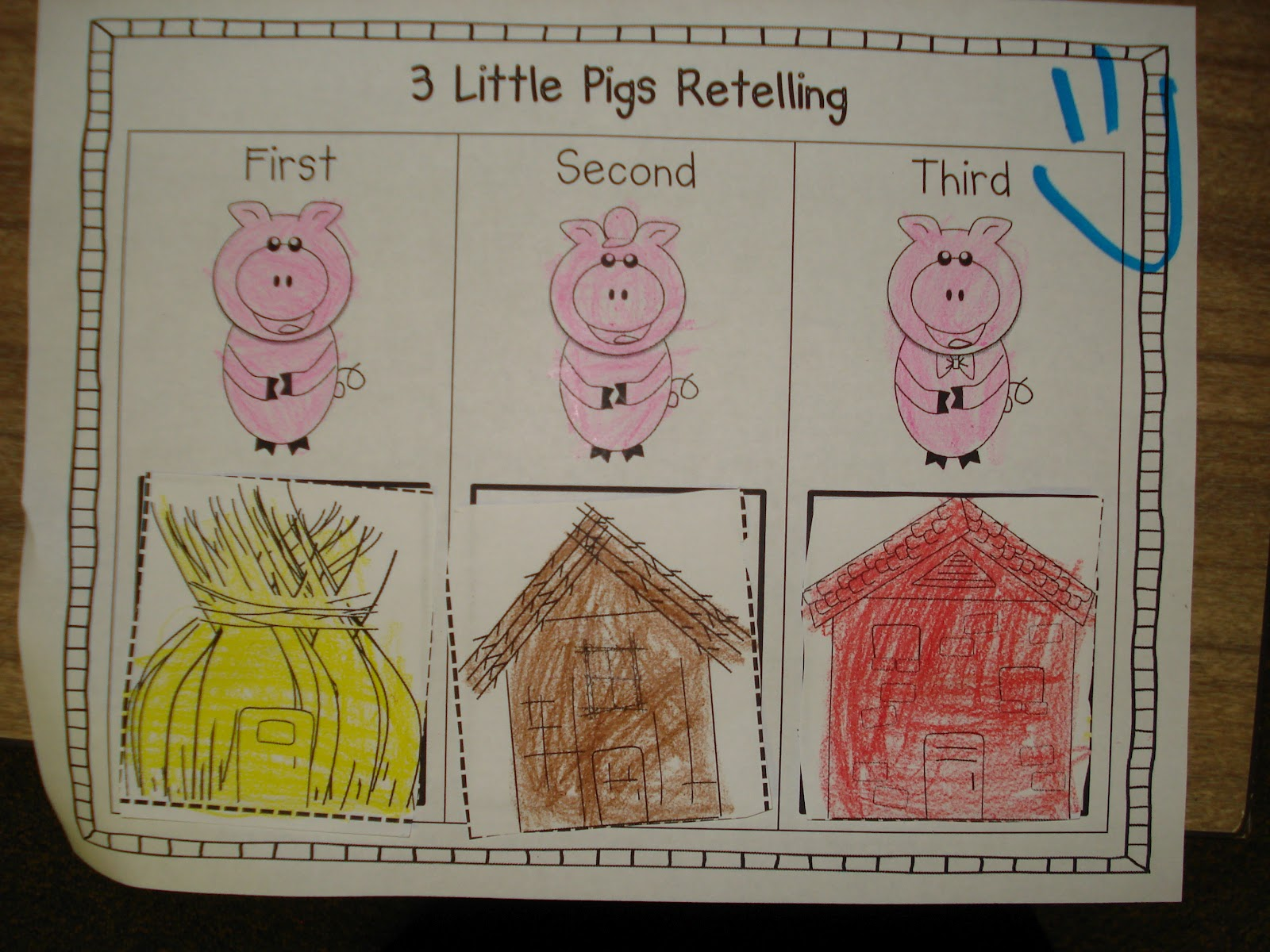 three little pigs fun and this week 39 s workshops primary press. Black Bedroom Furniture Sets. Home Design Ideas