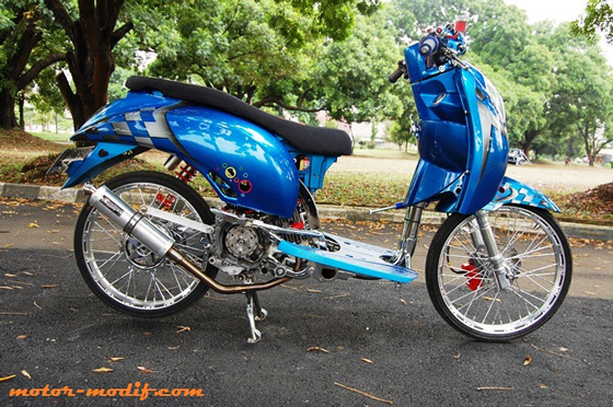 Modifikasi Motor Honda Spacy Racing