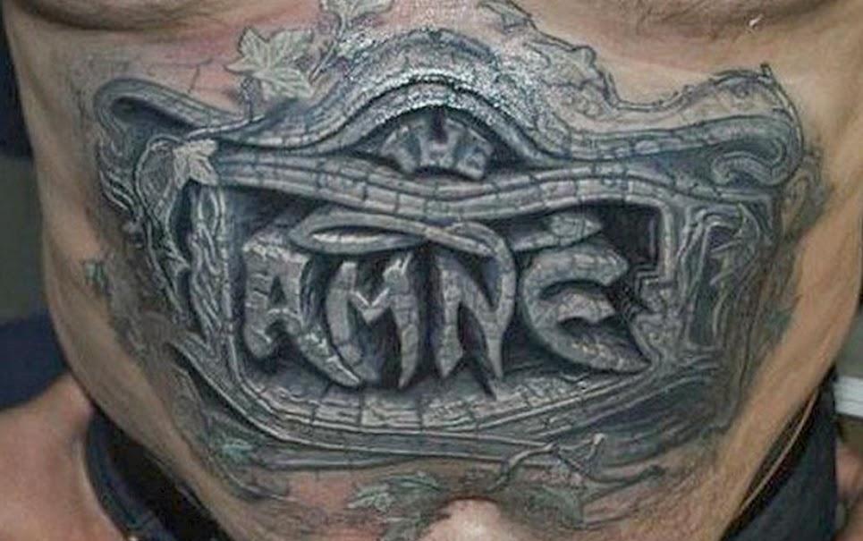 Tattoo em 3D na barriga
