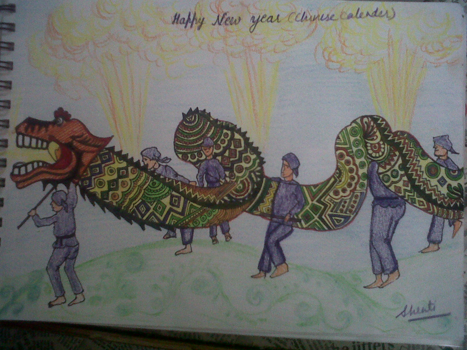 chinese happy new year greetings by shruti goyal 4th semester student of bsc animation multimedia