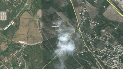 Satellite view of Latakia, Syria