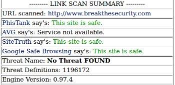List of safe websites