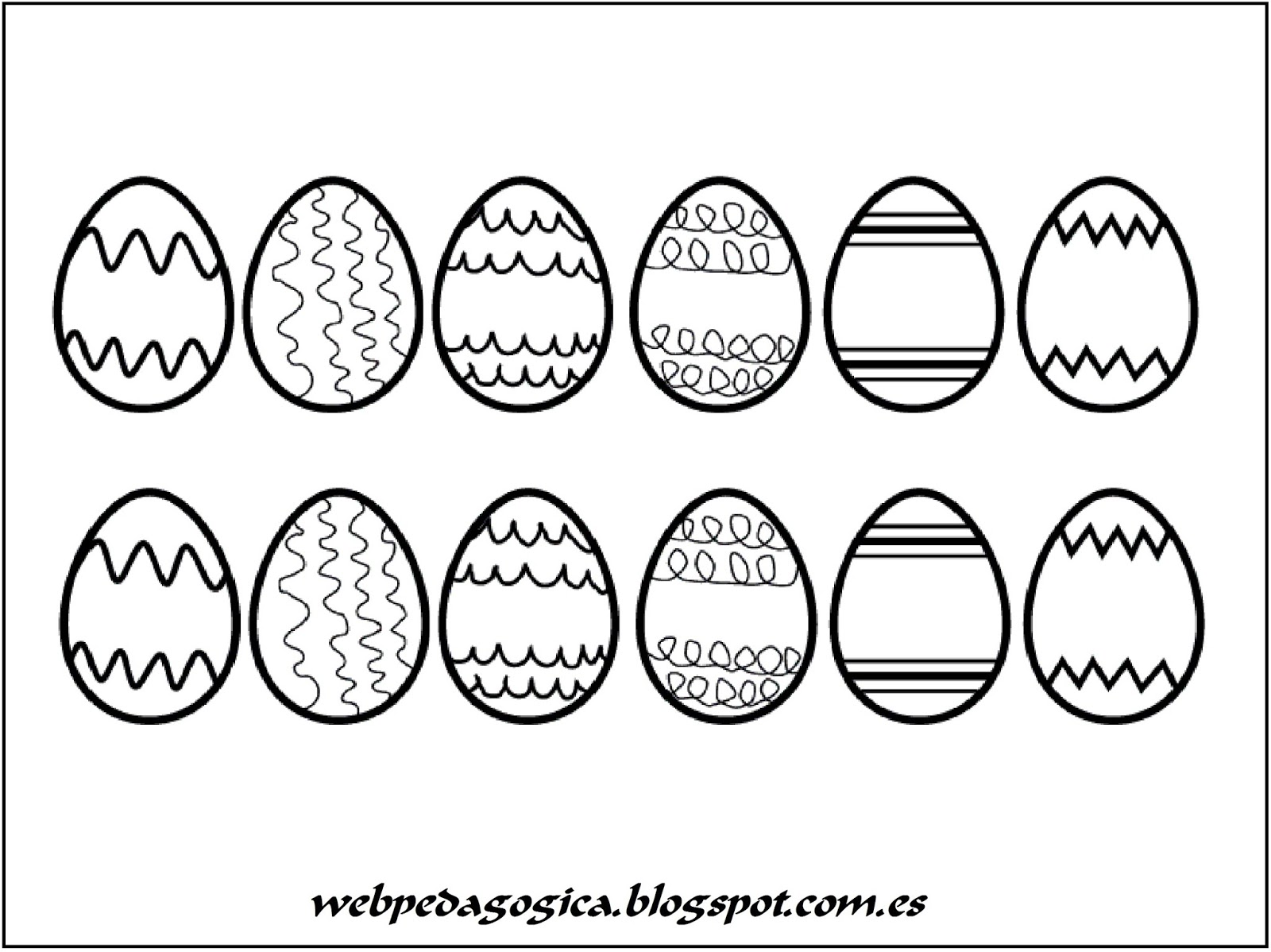 Contemporáneo Huevos De Pascua Para Colorear Imprimibles Fotos ...