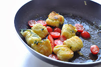 Golden Gnocchi in Garlic and Basil Butter with Cherry Tomatoes ~ Simple Food