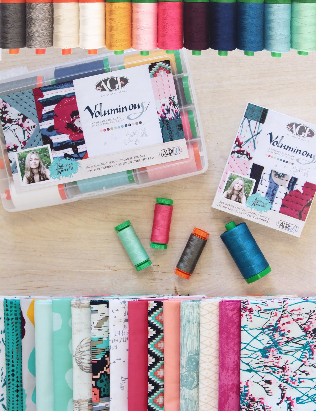 "Aurifil thread collection ""Voluminous"""