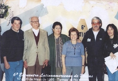 6º Encuentro Latinoamericano de Poetas Mayo de 1995.Termas de Río Hondo, Santiago del estero, Argen