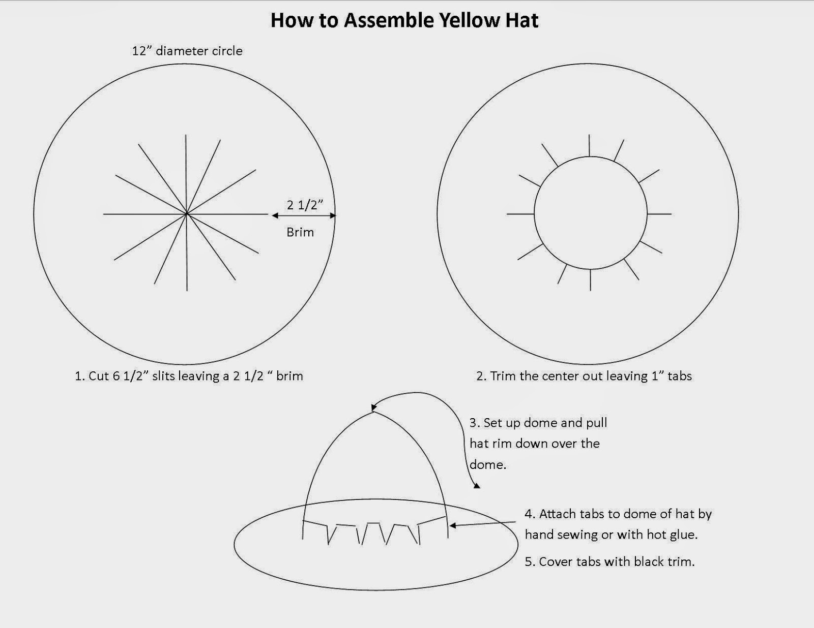 Raising creative hearts man in the yellow hat costume tutorial and download pattern here maxwellsz