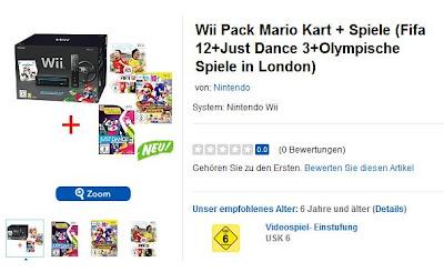 Starkes Wii-Bundle aus Wii Pack Mario Kart + Spiele (Fifa 12 + Just Dance 3 + Mario und Sonic bei den Olympischen Spielen in London) mit Neukunden-Gutschein bei Toys'r us für 181,15 Euro