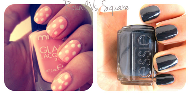 round vs square nails essie bobbing for baubles mi ny pastel dali polka dot