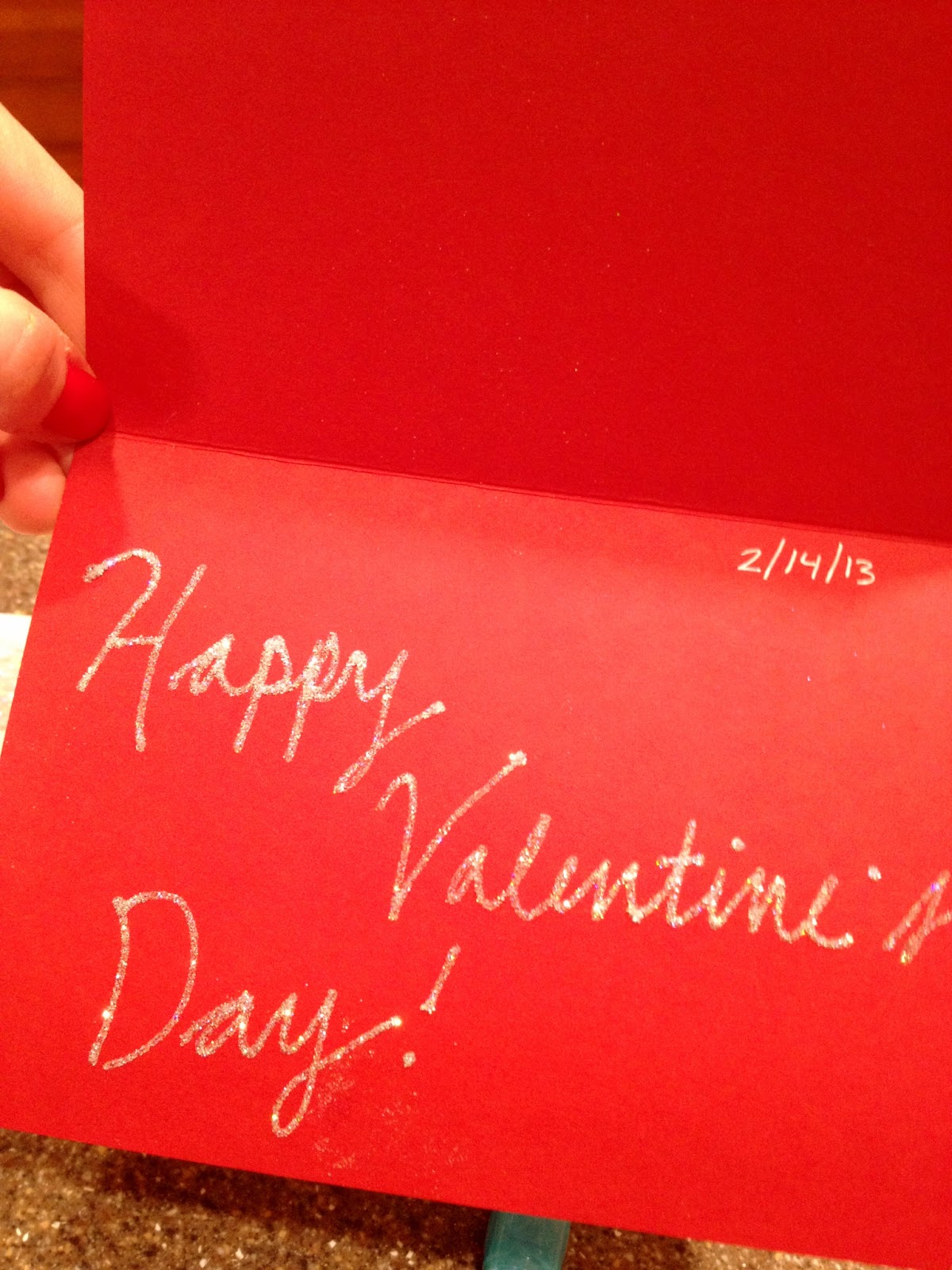 Then I Discovered The Glue Pen Recently And Used It To Write A Fancy Happy Valentineu0027s  Day Inside The Card With Sparkly Silver Glitter.