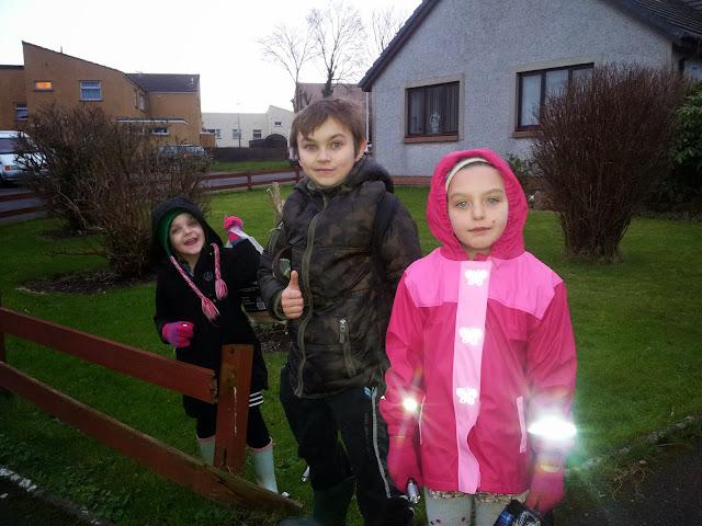 New Years   2014 Child Walk Woods Wellies Torch