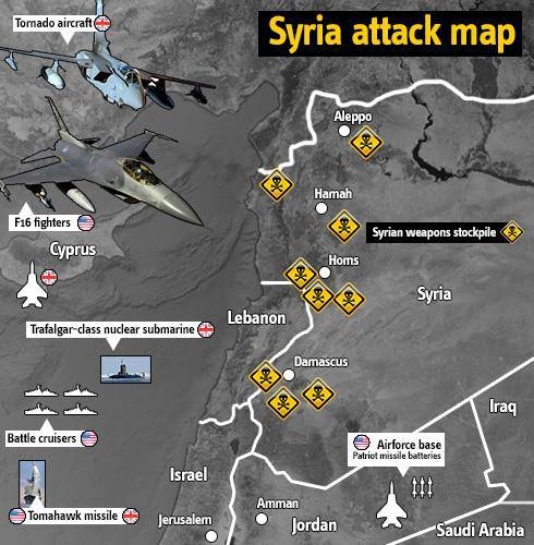 Syria Attack Map Anonymous Art Of Revolution