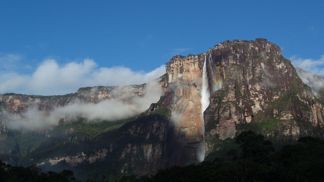 Angel Falls, VenezuelaWith a height of 3,211 feet this waterfall is the largest in the world. In fact, it's so high that water evaporates before it even reaches the ground!