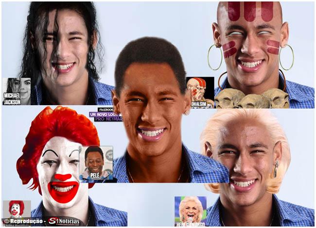 Neymar com visual de Pelé, Michael Jackson, Zé Bonitinho, Rita Lee e outas celebrdades