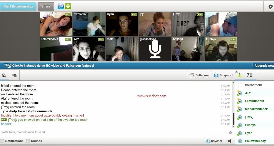 webcam chat group